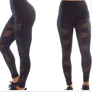 Buffbunny Black Mesh Leggings